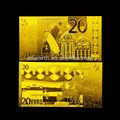 ouro dom e artesanato 24k folha folha de ouro euro 20 999 com ouro fino de notas de decoração para casa ou escritório