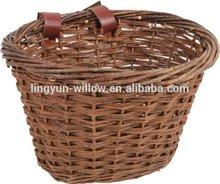 Willow Hot sale custom bike baskets,custom size wicker basket,black wicker baskets