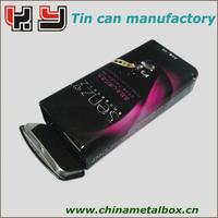 Rectangular chocolate tin box with insert tray