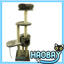 Large Size Innovative Cat Scratching Tree House With Pet Cushion At Top Cat Tree