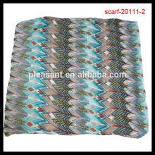 Hot Sell Multi-Color Bright Stripe Chevron Aztec Infinity Scarf Fashion Accessories