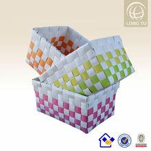 supermarket plastic rattan basket