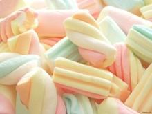 Wholesale/Marshmallow Candy, Mini Twist Marshmallow, Colored Marshmallow
