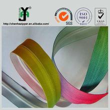 2014 hot sale long chian fashion waterproof printing tape zipper