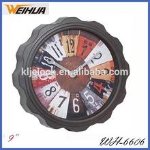 Plastic round analog old style wall clocks