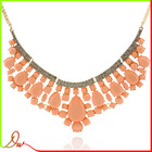 2014 new arrival top sale pink acrylic element pendant rigant jewelry