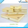 vários tipos de vidro personalizado de lâminas de madeira de pinho caixa