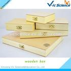Various kinds custom glass slides pine wooden box