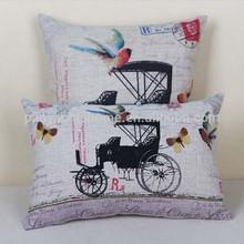china wholesale Animal/Pets Painted Home Faux linen Pillow, decorative Pillow