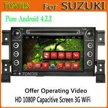Android 4.2 touch screen car radio gps for suzuki grand vitara with radio bluetooth TV 2011 2010 2009 2008 2007 2006 2005