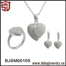 Aliexpress Promotional Eternal Heart Wedding 925 SilverJewelry Sets