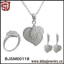 Custon Design Eternal Heart Wedding SilverJewelry Sets