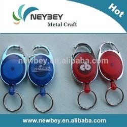 2014 wholesale multi-style yoyo carabiner retractable id badge holder pull reel