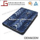 Blue Leopard Print PU Leather Folio Smart Cover for iPad Mini