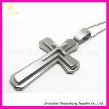 Fashion men stainless steel cross pendent