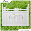 Fentech White Picket Top Vinyl Privacy PVC Fence with cheap Fence Panels