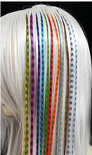 wholesale synthetic feather wig Colorful Clip-In Hair Extension