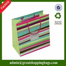 Paper handle fancy design kraft paper bag