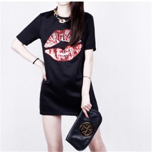 2014 latest fashion short sleeve Package buttocks dress casual