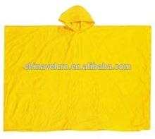 pvc eva adult rain poncho color yellow raincoat