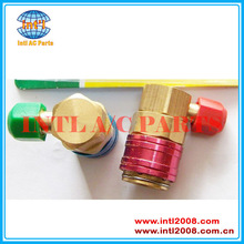 90 Degree High and Low Quick Couplers Connectors Adapters R134A Conversion Set Auto Car