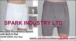 wholesale china healthy white 100% Cotton reusable incontinence men boxer briefs