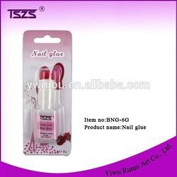 6g glue with soft brush, bond nail glue
