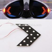 New shape high quality auto led arrow light for car side mirror turn signal