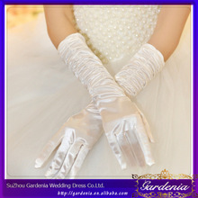 New Arrival High Quality Elbow Length Full Finger Silk Satin Wedding Bridal Gloves (ZX653)