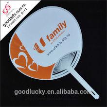 PP plastic hand fan / promotion pp hand fan / plastic fan with handle