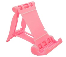 Pink color table stand for mobile phone