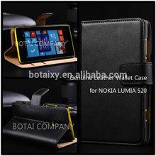 Luxury Genuine Leather Wallet Case For Nokia Lumia 520