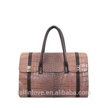Genuine cow leather women handbag fashion crocodile tote bags
