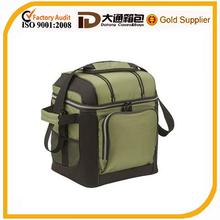 2014 fashion new design round tote bottle wine cooler bag picnic cooler bag
