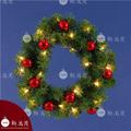 18 rojo pulgadas adornos de bolas de madera de pino decorado guirnaldas de navidad con luces led