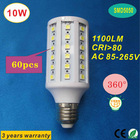 High brightness 1100lm 5050 10W E27 LED corn bulb