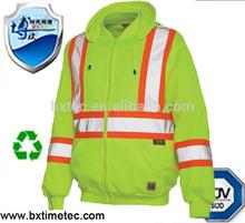 2014 New Designed EN 471 Polar Fleece safety Jacket Using High Visibility Yarn