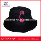 custom plain black fishing cap/hat with embroidery logo
