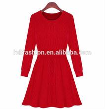 Latest korean knitwear long sleeve beautiful dresses