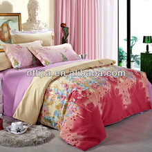 wedding duvet set-100%cotton printed bedding beautiful bed sheet sets 4pcs sheet sets