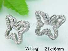 a forma di farfalla in oro diamante cameo orecchino gioielli