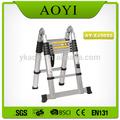 china de fábrica de aluminio telescópica plataforma escalera de