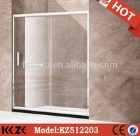 simple install frameless sliding shower room stainless steel glass screen