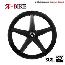 2014 XBIKE Toray 1000 full carbon 700c road &track tubular five spoke carbon wheel