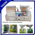 ultrasonidos suave del tubo de plástico de la máquina de sellado para los cosméticos y pasta de dientes