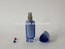 30ml Fashion Blue Cosmetics Heart Shape Acrylic Pump Bottle