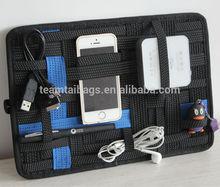2014 hot sell grid it organizers fashion elastic gadget organizer for digital product organizer case high-quality gift