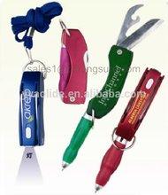 multi function pen,folding ball pen with light,pen with letter opener