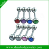 beautiful body jewelry piercing sparkle tongue ring