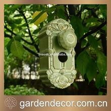 Garden Bird House, Decorative Doorknob Birdhouses, Resin Bird House
